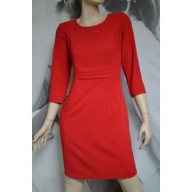 Sukienka Zakładki - czerwona 38-46