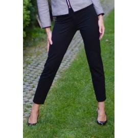 Spodnie cygaretki Livorno MARIE - czarne, z elastanem