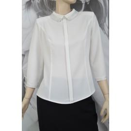 Bluzka 'Angie' - biała - uszyta w Studio Mody MARIE