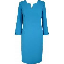 Sukienka V-Model turkusowa
