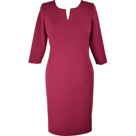 Sukienka V-Model burgund