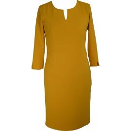 Sukienka V-Model miodowa