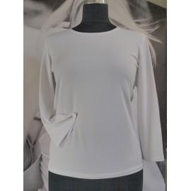 Bluzka 3/4 MARIE - kolory: biała, ecru i czarna - uszyta w Studio Mody MARIE