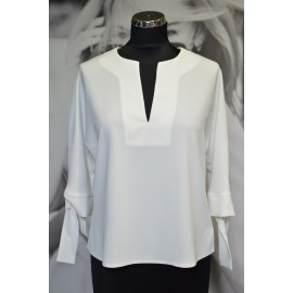 Bluzka 'Bianco' - biała - luźny i uniwersalny krój