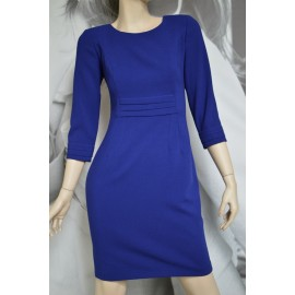 Sukienka Zakładki MARIE - kobaltowa 38-46