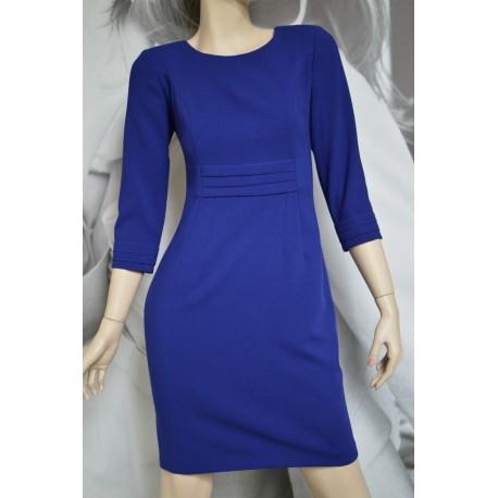 Sukienka Zakładki - kobaltowa 38-46