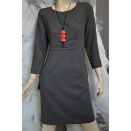 Sukienka Zakładki MARIE - grafitowa