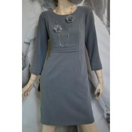 Sukienka Zakładki MARIE - popielata