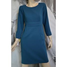 Sukienka Zakładki MARIE - kolor morski/zielony 38-46