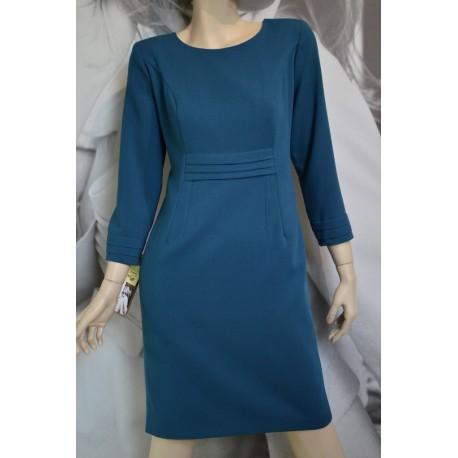 Sukienka Zakładki MARIE - morski zielony 38-46