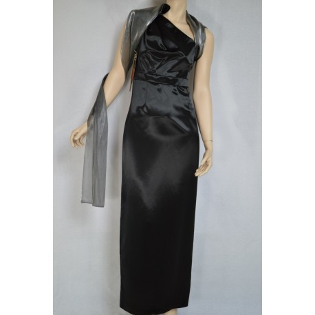 Suknia Dolce Vita czarna SZAL GRATIS