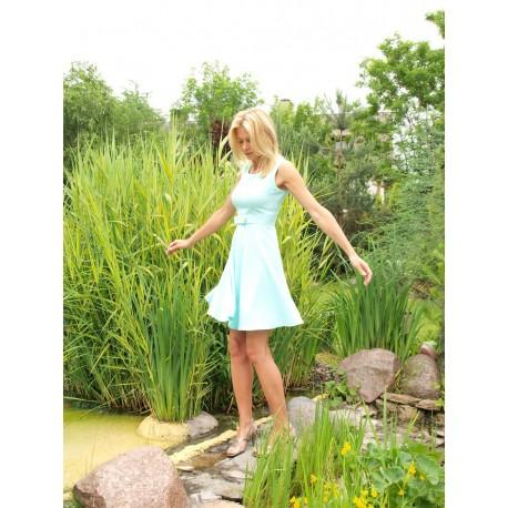 Sukienka 'z koła' kolor miętowy