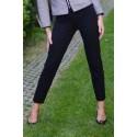 Spodnie cygaretki Livorno MARIE - czarne, średnia gramatura + elastan