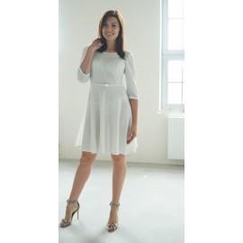 Sukienka Hollywood srebrna wersja 'z koła'