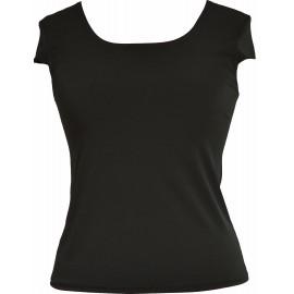 Bluzka TOP MARIE - z motylkiem, kolory: biała, ecru i czarna - uszyta w Studio Mody MARIE