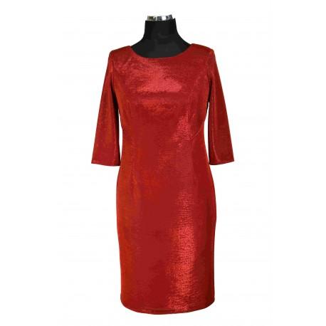 Sukienka Hollywood czerwona tył wycięty
