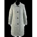 Płaszcz Mélange  - popielaty, ocieplany