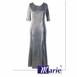 Suknia Hollywood srebrna - długa